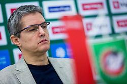 Zoran Martic, head coach of KK Petrol Olimpija during Press conference of KK Petrol Olimpija, on January 11, 2018 in Arena Stozice, Ljubljana, Slovenia. Photo by Ziga Zupan / Sportida