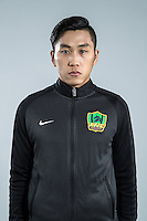 Portrait of Chinese soccer player Liu Hao of Guizhou Hengfeng Zhicheng F.C. for the 2017 Chinese Football Association Super League, in Guiyang city, southwest China's Guizhou province, 23 February 2017.