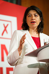 © Licensed to London News Pictures. 24/05/2016. London, UK. Shadow Chief Secretary to the Treasury SEEMA MALHOTRA speaks to set out why women are better off in European Union at Church House in London on Tuesday, 24 May 2016. Photo credit: Tolga Akmen/LNP