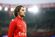 Paris Saint Germain's French midfielder Adrien Rabiot warms up before the French championship L1 football match between Paris Saint-Germain (PSG) and Saint-Etienne (ASSE), on August 25, 2017 at the Parc des Princes in Paris, France - Photo Benjamin Cremel / ProSportsImages / DPPI