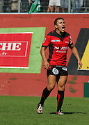 Toulon's Pierre Mignoni shouts instructions during the French Top 14 Rugby Match, Montauban vs Toulon on Sunday to cap a memorable week for the south-western club at the Sapiac stadium in Montauban, France on September 6, 2009
