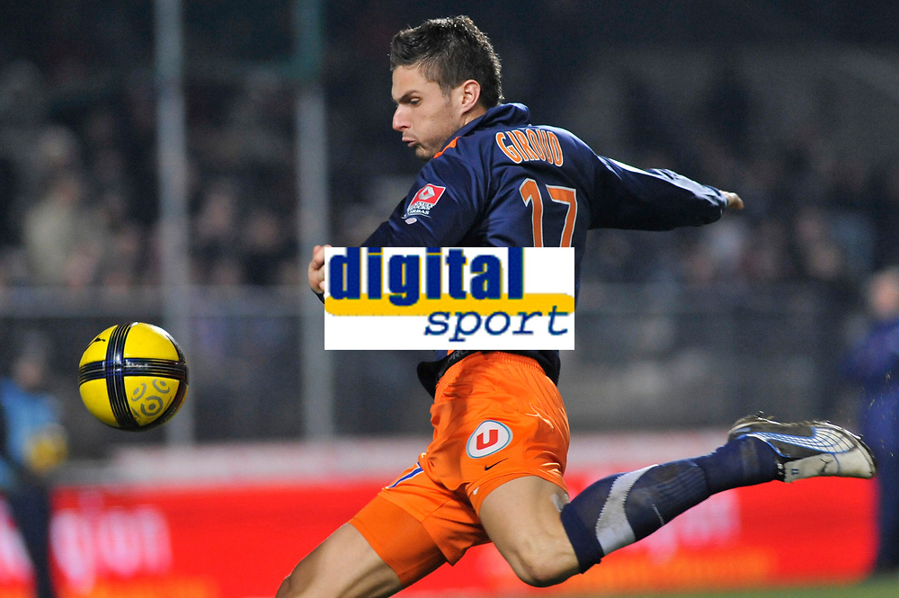 FOOTBALL - FRENCH CHAMPIONSHIP 2010/2011 - L1 - MONTPELLIER HSC v AS SAINT ETIENNE - 05/02/2011 - PHOTO SYLVAIN THOMAS / DPPI - OLIVIER GIROUD (MON)