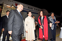 Minister of International Relations and Cooperation Ms Lindiwe Sisulu receiving the President of the People's Republic of China, His Excellency Mr Xi Jinping and spouse at Waterkloof Air Force Base.<br /> <br /> 23 July 2018<br /> <br /> Pretoria, South Africa.<br /> <br /> <br /> <br /> Picture byline:  DIRCO News Service/Jacoline Schoonees<br /> <br /> <br /> <br /> <br /> <br /> <br /> <br /> President Ramaphosa to receive President Xi Jinping of the People's Republic of China on a State Visit to South Africa<br /> <br /> His Excellency President Cyril Ramaphosa will on Tuesday, 24 July 2018, host the President of the People's Republic of China, His Excellency Mr Xi Jinping, on a State Visit to South Africa.<br /> The State Visit takes place within the context of strengthening strategic and historic political, economic, social and international cooperation partnership between South Africa and China.<br /> <br /> The two Heads of State will use the State Visit to engage in bilateral talks and evaluate the progress achieved by the two countries on the Strategic Programme with specific reference to the six priority areas identified in 2015, which include amongst other matters: the Alignment of industries to accelerate South Africa's industrialization process; Enhancement of cooperation in Special Economic Zones (SEZs); Enhancement of marine cooperation; Infrastructure development; Human resources cooperation; as well as Financial cooperation.<br /> <br /> President Xi will meet President Ramaphosa ahead of South Africa's hosting of the 10th BRICS Summit in which Brazil, Russia, India, China and South Africa will participate.<br /> <br /> President Ramaphosa will also pay a state visit to China ahead of the Forum on China-Africa Cooperation (FOCAC) Summit, which President Ramaphosa will co-chair with President Xi, to be held in Beijing in the latter part of this year.<br /> <br /> South Africa's relations with China are at the level of a Comprehensive Strategic Partnership (CSP). The Beijing Declaration on the Establishment of a Comprehensive Strategic Partnership encapsulates all facets of South Africa's relati