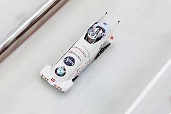 16.12.2017, Olympia Eisbahn, Igls, AUT, BMW IBSF Weltcup und EM, Igls, Zweierbob Herren, 1. Lauf, im Bild Oskars Melbardis und Daumants Dreiskens (LAT) // Oskars Melbardis and Daumants Dreiskens of Latvia during 1st run of two-man Bobsleigh competition of BMW IBSF World Cup and European Championship at the Olympia Eisbahn in Igls, Austria on 2017/12/16. EXPA Pictures © 2017, PhotoCredit: EXPA/ Johann Groder