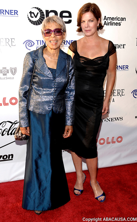 Ruby Dee and Marcia Gay Harden pose at the 4th Annual Hall Of Fame Induction Ceremony and Gala at the Apollo Theater in Harlem New York City, USA on June 2, 2008.