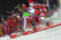 "29.01.2019, Planai, Schladming, AUT, FIS Weltcup Ski Alpin, Slalom, Herren, 1. Lauf, im Bild Marcel Hirscher (AUT) // Marcel Hirscher of Austria in action during his 1st run of men's Slalom ""the Nightrace"" of FIS ski alpine world cup at the Planai in Schladming, Austria on 2019/01/29. EXPA Pictures © 2019, PhotoCredit: EXPA/ Erich Spiess"