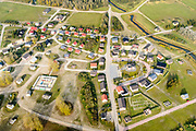 Nederland, Groningen, Marnewaard, 04-11-2018; Marnehuizen, militair oefendorp onderdeel van het militair oefenterrein Marnewaard. Ook gebruikt voor oefeningen door politie, mobiele eenheid (ME) en anti-terreureenheden <br /> Military training village .<br /> <br /> luchtfoto (toeslag op standaard tarieven);<br /> aerial photo (additional fee required);<br /> copyright&copy; foto/photo Siebe Swart