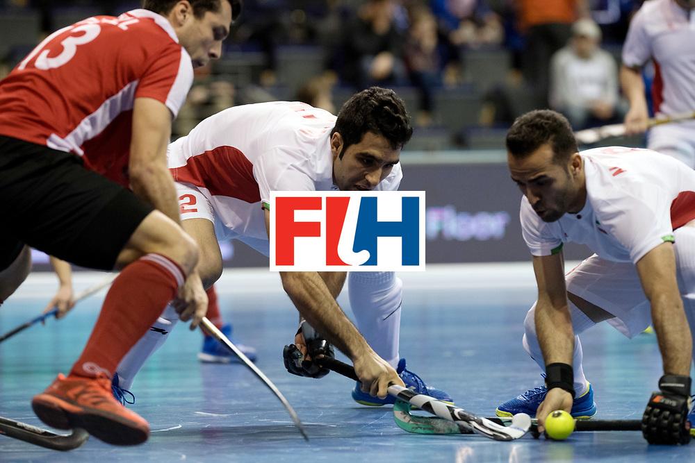 BERLIN - Indoor Hockey World Cup<br /> Men: Iran - Austria<br /> foto: BAHRAMI Yaghoub.<br /> WORLDSPORTPICS COPYRIGHT FRANK UIJLENBROEK