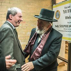London, UK - 3 December 2014: Mr Stephen Williams MP, Parliamentary Under Secretary of State for Communities and Local Government, arrives at the Talmud-Torah Yetev-Lev orthodox Jewish school in Hackney, London
