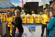 Nederland, Amsterdam, 1-9-2012 Manuscripta op het terrein van de Westergasfabriek. Boekenmarkt aan het begin van het nieuwe seizoen. N.S. publieksprijs.Foto: Flip Franssen/Hollandse Hoogte