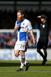 Stuart Sinclair of Bristol Rovers looks on - Rogan Thomson/JMP - 28/01/2017 - FOOTBALL - Memorial Stadium - Bristol, England - Bristol Rovers v Swindon Town - Sky Bet League One.