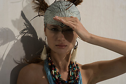 Breezy Beach Babes. Beauty Fashion Editorial shot in Malibu California at a Frank Gehry designed residential home. Model Actor Miss World Romania Lavinia Postolache, Model and Actor Eugenia Kuzmina, Model Tatiana Likhina. Stylist Jennifer O'Bannon, Makeup Hair Heather Wilson. Photographer and copyright Amyn Nasser. All Rights Reserved. Published in Prestige International Magazine PIM 17.