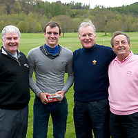 St Johnston FC Youth Development Golf Tournament, Crieff Golf Club....30.04.12<br /> Whyte Sharp from left, unknowm David Robertson, Gary Whyte and unknown<br /> Picture by Graeme Hart.<br /> Copyright Perthshire Picture Agency<br /> Tel: 01738 623350  Mobile: 07990 594431