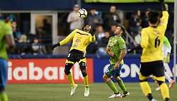 March 1, 2018 - Seattle, Washington, U.S - Soccer 2018: Santa Tecla defender YOSIMAR QUINONES (23) tries to get control of the ball as Santa Tecla FC visits the Seattle Sounders for a CONCACAF match at Century Link Field in Seattle, WA. (Credit Image: © Jeff Halstead via ZUMA Wire)