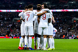 Jesse Lingard of England celebrates with teammates after scoring a goal to make it 1-0 - Mandatory by-line: Robbie Stephenson/JMP - 15/11/2018 - FOOTBALL - Wembley Stadium - London, England - England v United States of America - International Friendly