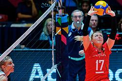 09–01-2020 NED: Olympic qualification tournament women, Apeldoorn<br /> Croatia - Belgium / Ilka Van De Vyver #17 of Belgium