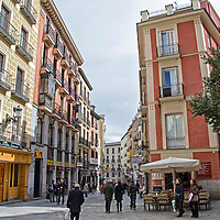 Calle Postas. Postas Street in Madrid. Spain.