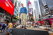 Jan Christian Vestre is displaying outdoor furniture solutions at a competition to find outdoor seating for Times Square