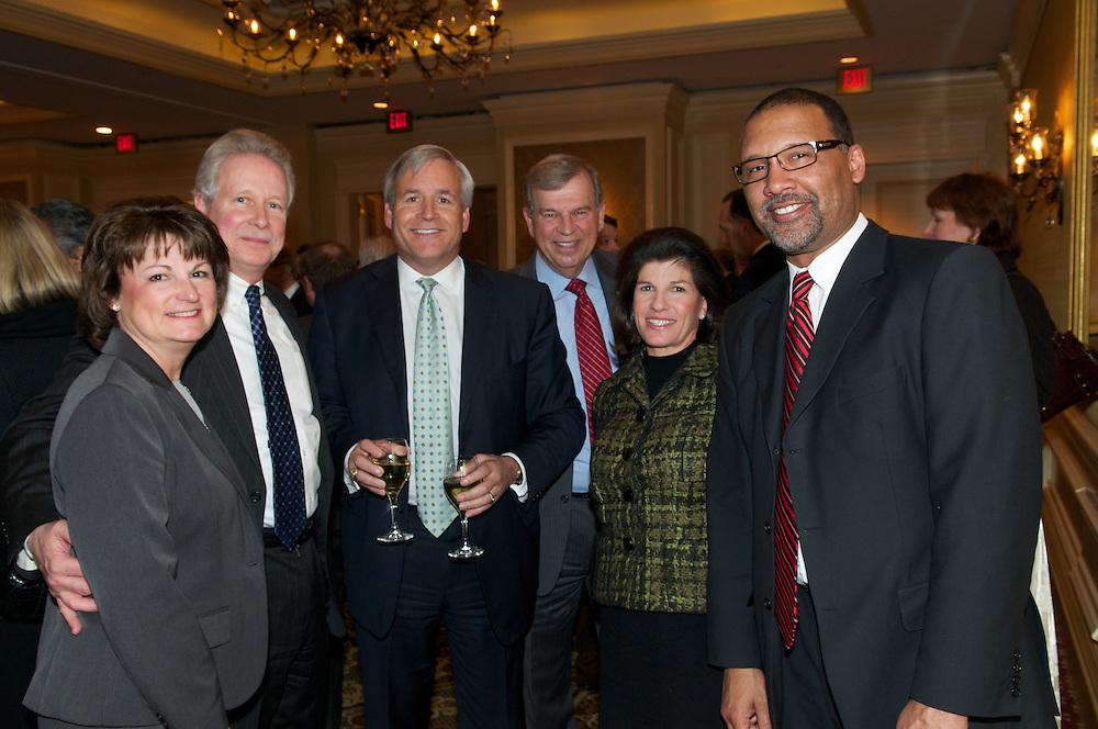 Bill Gates speaks to the members of the Economic Club of Washington at The Ritz Carlton Washington DC