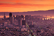 View of downtown from Twin Peaks, San Francisco, California