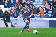 Leeds United defender Gaetano Berardi (28) passes the ball during the EFL Sky Bet Championship match between Huddersfield Town and Leeds United at the John Smiths Stadium, Huddersfield, England on 7 December 2019.