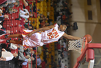 NCAA Division I leading scorer Reggie Williams, a junior forward for VMI, scores a bucket on a fast break in a January 18 game against Bridgewater, played in Lexington.