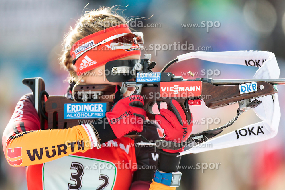 25.01.2015, Suedtirol Arena, Antholz, ITA, IBU Weltcup Biathlon, Antholz, Staffel Damen, im Bild Franziska Preuss (GER) // during the Womens Relay of IBU Biathlon World Cup at the Suedtirol Arena in Antholz, Italy on 2015/01/25. EXPA Pictures © 2015, PhotoCredit: EXPA/ Federico Modica