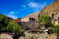 The village of Setti-Fatma in the foothills of the Atlas Mountains in the Ourika Valley, Morocco, North Africa<br /> <br /> (c) Andrew Wilson | Edinburgh Elite media