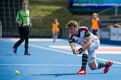 Surbiton's Gareth Furlong. Wimbledon v Surbiton - Men's Hockey League Final, Lee Valley Hockey & Tennis Centre, London, UK on 23 April 2017. Photo: Simon Parker
