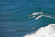 Surfers at Indicators beach in Rincon Puerto Rico