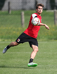 24.07.2015, Sportplatz, Walchsee, AUT, Trainingslager, FC Augsburg, im Bild Paul Verhaegh (FC Augsburg #2) schlaegt den Ball weg, Foto: Eibner // during the Trainingscamp of German Bundesliga Club FC Augsburg at the Sportplatz in Walchsee, Austria on 2015/07/24. EXPA Pictures © 2015, PhotoCredit: EXPA/ Eibner-Pressefoto/ Krieger<br /> <br /> *****ATTENTION - OUT of GER*****