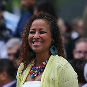 Chandra Pitts attends Sanford 79th commencement exercises Friday, June 05, 2015, at Sanford School amphitheater in Hockessin, Delaware.
