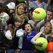 2017 U.S. Open Tennis Tournament - DAY TWO. Young fans wait for autographs of Rafael Nadal of Spain after his win against Dusan Lajovic of Serbia during the Men's Singles round one match at the US Open Tennis Tournament at the USTA Billie Jean King National Tennis Center on August 29, 2017 in Flushing, Queens, New York City.  (Photo by Tim Clayton/Corbis via Getty Images)