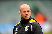 Mansfield Town manager Adam Murray before the Sky Bet League 2 match between Plymouth Argyle and Mansfield Town at Home Park, Plymouth, England on 13 February 2016. Photo by Graham Hunt.