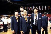 Europeo Stoccarda 1985 premiazioniEuropei Stoccarda 1985 - Alessandro Gamba, Renato Villalta, Roberto Brunamonti, Augusto Binelli con le medaglie Foto: Fabio Ramani
