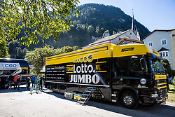 Lotto Jumbo team Bus at Men Elite Individual Time trial a 52.5km race from Rattenberg to Innsbruck 582m at the 91st UCI Road World Championships 2018 / ITT / RWC / on September 26, 2018 in Innsbruck, Austria. Photo by Vid Ponikvar / Sportida