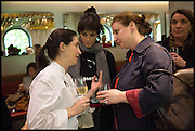 ELENA ARZAK; ,;HELENA RIZZO; ANGELA HARTNETT,  Veuve Clicquot World's Best Female chef champagne tea party. Halkin Hotel. Halkin St. London SW1. 28 April 2014.