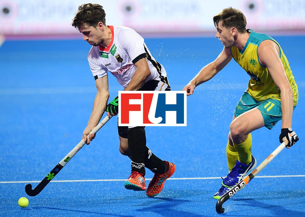 Odisha Men's Hockey World League Final Bhubaneswar 2017<br /> Match id:20<br /> Australia v Germany<br /> Foto: Eddie Ockenden (Aus) <br /> COPYRIGHT WORLDSPORTPICS FRANK UIJLENBROEK