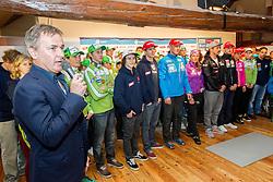 Primoz Ulaga, president of SAS during Media day of Ski Association of Slovenia before new winter season 2013/14 on October 10, 2013 in Hisa Kulinarike Jezersek, Zg. Brnik, Slovenia. (Photo by Vid Ponikvar / Sportida)