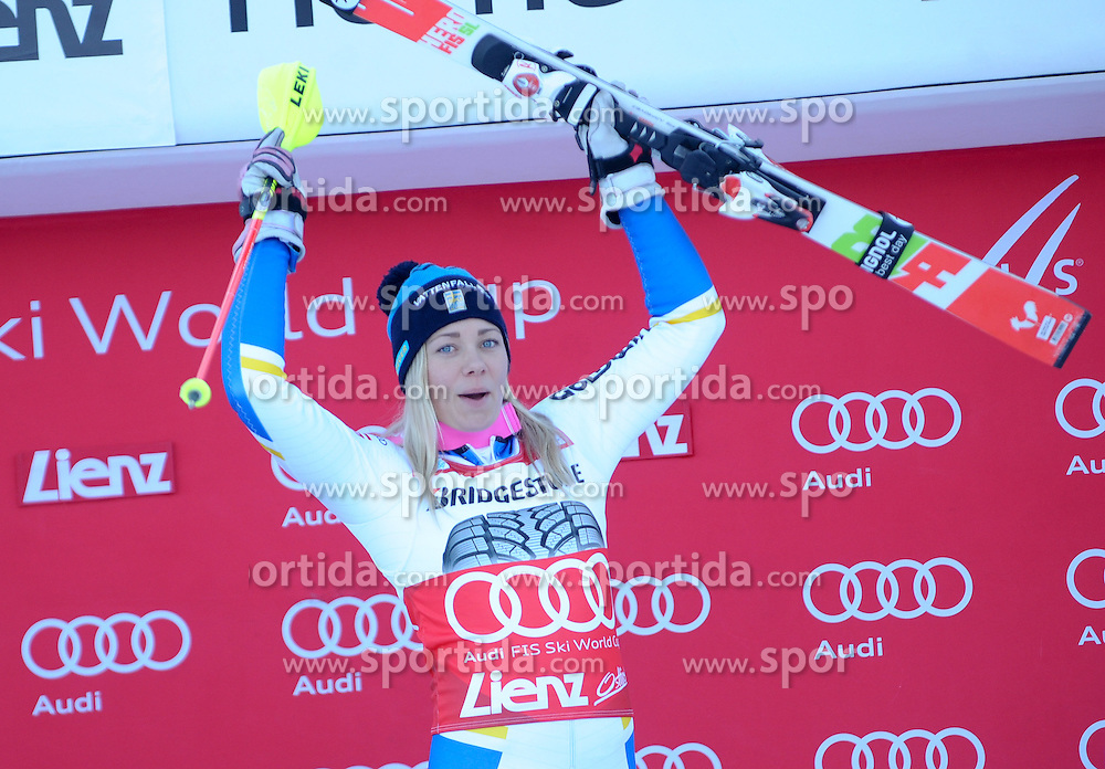 29.12.2015, Hochstein, Lienz, AUT, FIS Weltcup Ski Alpin, Lienz, Slalom, Damen, 2. Durchgang, im Bild Frida Hansdotter (SWE) // Frida Hansdotter of Sweden reacts after 2nd run of ladies Slalom of the Lienz FIS Ski Alpine World Cup at the Hochstein in Lienz, Austria on 2015/12/29. EXPA Pictures © 2015, PhotoCredit: EXPA/ Erich Spiess