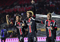 November 08, 2015: Fury #9 Tom Heinemann celebrates with team mates Carl Haworth (#17) and Oliver (#11) after scoring the winning goal, his second of the match as The Ottawa Fury booked their place in the NASL Championship Final after coming from behind to beat Minnesota United 2-1 after extra-time. Fury will now face the New York Cosmos in the final.