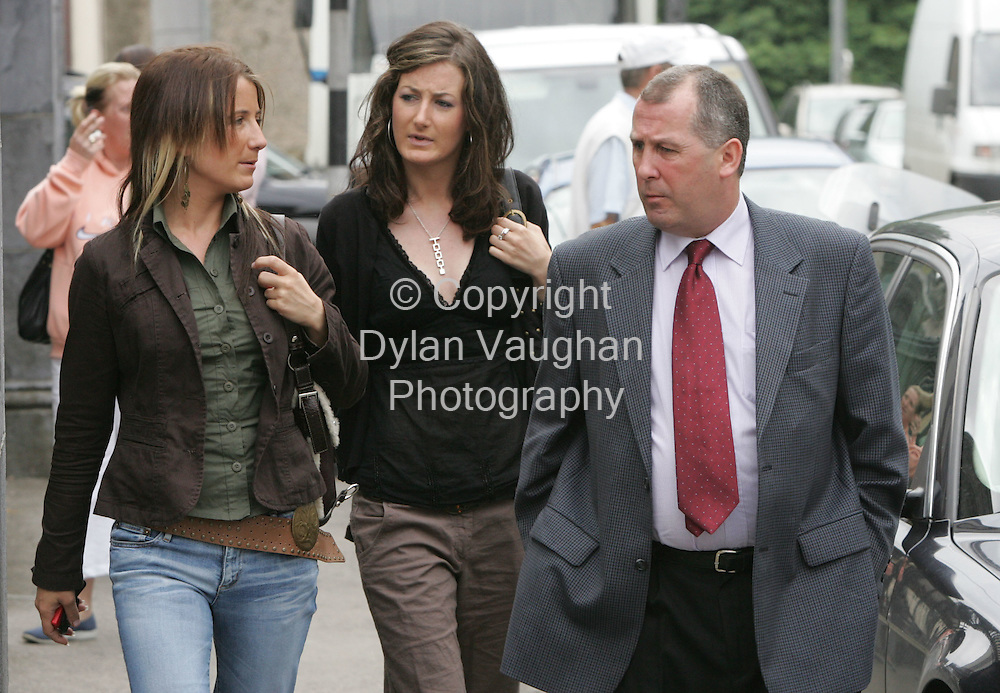 27/6/2006.From left Sharon, Jenna and Pat Rossiter pictured leaving Clonmel Court in Tipperary yesterday..Picture Dylan Vaughan.