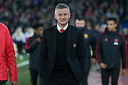 Manchester United interim Manager Ole Gunnar Solskjaer during the Premier League match between Crystal Palace and Manchester United at Selhurst Park, London, England on 27 February 2019.