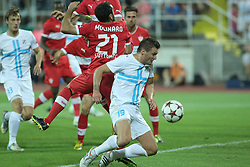 22.08.2013, Stadion Kantrida, Rijeka, CRO, UEFA EL Qualifikation, HNK Rijeka vs VfB Stuttgart, Hinspiel, im Bild Leon Benko // during the UEFA Europa League Qualification first leg match between HNK Rijeka and VfB Stuttgar at Kantrida Stadium in Rijeka, Croatia on 2013/08/22. EXPA Pictures © 2013, PhotoCredit: EXPA/ Pixsell/ Nel Pavletic<br /> <br /> ***** ATTENTION - for AUT, SLO, SUI, ITA, FRA only *****