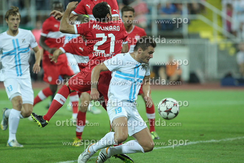 22.08.2013, Stadion Kantrida, Rijeka, CRO, UEFA EL Qualifikation, HNK Rijeka vs VfB Stuttgart, Hinspiel, im Bild Leon Benko // during the UEFA Europa League Qualification first leg match between HNK Rijeka and VfB Stuttgar at Kantrida Stadium in Rijeka, Croatia on 2013/08/22. EXPA Pictures &copy; 2013, PhotoCredit: EXPA/ Pixsell/ Nel Pavletic<br /> <br /> ***** ATTENTION - for AUT, SLO, SUI, ITA, FRA only *****