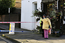 © Licensed to London News Pictures. 04/01/2020. London, UK. The crime scene on Charteris Road, near the junction with Lennox Road, Finsbury Park in north London. Police launch a murder investigation following a death of a man in his 30s on Friday 3 January 2020. Police were called at approximately 6.50pm to reports of a man stabbed and the he was pronounced dead at the scene just after 7.30pm.  Photo credit: Dinendra Haria/LNP