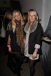 Left to right, sisters ASTRID HARBORD and DAVINIA HARBORD at a party to launch pop-up store Oxygen Boutique, 33 Duke of York Square, London SW3 on 8th February 2011.