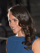 Meghan Markle Displays Fuller Figure In Blue Dress