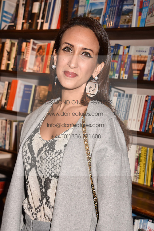 HH Princess Nauf al Bendar at a party to celebrate the publication of Saving The World by Paola Diana at Daunt Books, Marylebone, London England. 2 May 2018.