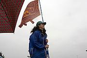 Jennifer Benfenati, at annual gathering of Lega Nord (North League) in Pontida, June 20, 2010. ..Jennifer Benfenati all'annuale raduno della Lega Nord a Pontida, 20 giugno, 2010.